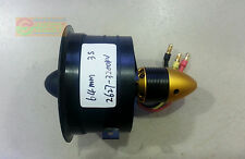 NEW 64mm 12- Blade 3S Fan Duct 2627 Motor Brushless 3200KV For Jet EDF Air Plane