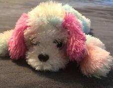 """Ty Classic Yodeler St. Bernard Rainbow Pastel Soft Fuzzy 14"""" Plush Glitter Eyes"""