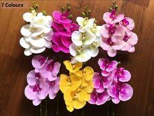 Flor Artificial Falso Phalaenopsis Látex silicio Orquídea Decoración Hogar Boda