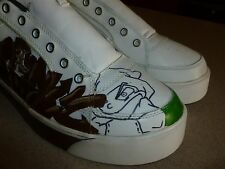 Lugz Leather Custom Painted Athletic Shoes Sneakers Mens sz 12D