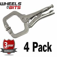 NEW 4PK 11 Inch Steel C CLAMP Adjustable Jaws DIY Woodwork Welding Great Quality
