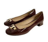 Tory Burch Jill Womens Dark Cherry Patent Leather Pumps Shoes Size 7