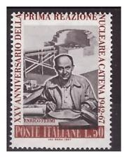 1967 - ENRICO FERMI   VARIETA'   ROSSO SPOSTATO -  Nuovo **