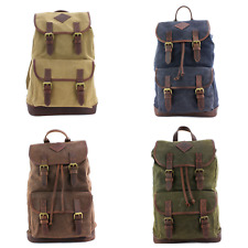 Waxed Canvas Rucksack By The British Bag Company - Various Colours Available