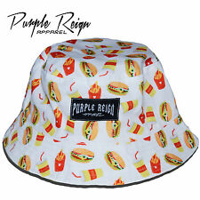 "PURPLE REIGN ""White Burger"" Bucket Hat supeme hundreds diamond stussy HBA Obey"