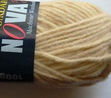 2 x 100g SIRDAR NOVA Super Chunky Yarn, Beige. M-Washable. Knit/Crochet/Weave