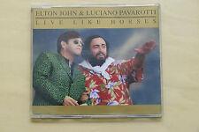 Live Like Horses by Elton John and Luciano Pavarotti Single (1998) Audio CD VG