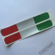 Pair Reflective 20cm Italy Italian Flag Tricolor Car Vinyl Decal Sticker