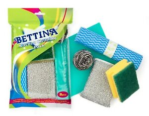 Bettina 8 Piece Kitchen Cleaning Pack - Ideal Pack For All Kitchen Purposes