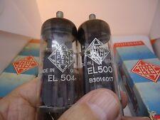TELEFUNKEN EL500 AND EL504  6GB5 NOS GERMAN NEW OLD STOCK VINTAGE VALVES TUBES