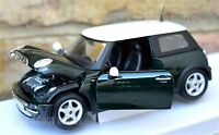 MINI COOPER 1:24 Scale Diecast Car Model Die Cast Cars Models Green