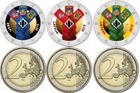 Baltische Gemeinschaftsausgabe 2 Euro 2018 Lettland Estland Litauen in Farbe
