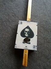 More details for diddley bow by deadfinger diddleybows , ace of spades , skull design .