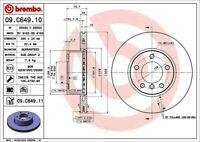 Disc Brake Rotor-Premium UV Coated OE Equivalent Rotor Front Brembo 09.C649.11