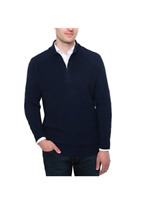 Brookmore Men's Cashmere 1/4 Zip Sweater Charcoal, Midnight, or Bark