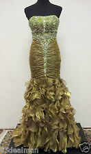 NEW Mary's Kiss Kiss Formal Prom Evening Pageant Dress P3028 Sz 4 Olive Green