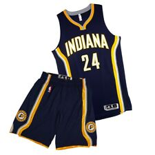 Paul George Adidas Indiana Pacers Authentic Road On-Court Rev Jersey & Shorts XL