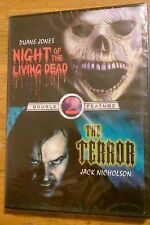 Night of the Living Dead The Terror Double Feature Dvd 2 movies Jack Nicholson