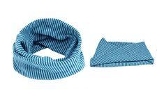 Blue Stripe Girl Kid Child Scarf Neckerchief Round O Ring 2 - 10 YRS Winter