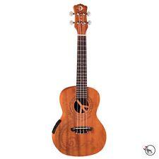 Luna MALU EL Peace Maluhia Mahogany Concert Acoustic Electric Ukulele Uke Preamp