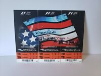 2013 Formula 1 Full Ticket Stubs Sebastian Vettel Brakes Record Austin Texas