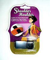 """SHOULDER HOULDER Purse/Bag/Gear Clip Black Holder >NEW< 2.25"""""""