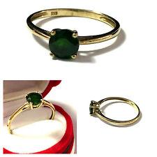 Runde Ringe mit Edelsteinen im Solitär Stil aus Gelbgold für Damen