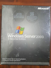NEW Microsoft Windows Server 2003 Enterprise x86 25 CAL RETAIL P72-00001 SEALED