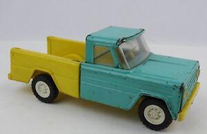 Vintage 1960's Structo Kom Pak Pick-Up truck Teal & Yellow Die cast / plastic