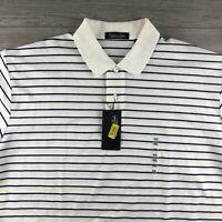 NWT Cypress Links Men's 100% Cotton Short Sleeve Polo Shirt - XXLarge Stripes