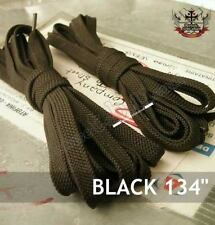 "134"" shoe lace KNEE HI TOP SNEAKER CONVERSE BOOTS BLACK"