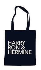 Harry ron & hermione BAG BORSA TESSUTO Potter Hogwards DUMBLEDOR Weasley