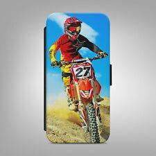 Motocross Bicicleta FREESTYLE Abatible Billetera Teléfono Estuche Cubierta para IPHONE SAMSUNG b293