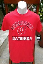 New Nwt University of Wisconsin Badgers Men's Large Logo Red T-Shirt Size Small