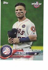2018 Topps OD National Anthem 5x7 07/49 Jose Altuve Houston Astros SET BREAK