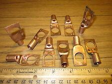 Copper Compression Lug Terminal Connectors 2-3 Str Wire 1 Hole 1/2 Short Barrel