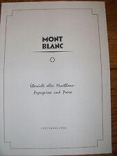 Riproduzione catalogo penne montblanc 1958