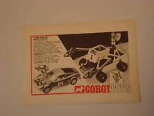 advertising Pubblicità 1972 FORD GT 70 e CORGI TOYS