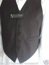 "Mens Waiter/Wedding Silk BLACK Waistcoat<To Fit>62""=155cm Chest-P&P2UK>1st Class"