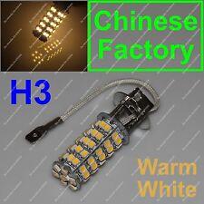 Warm White 68 SMD Car H3 3000K LED Bulb Head Light Fog Daytime Lamp Vehicle 12V