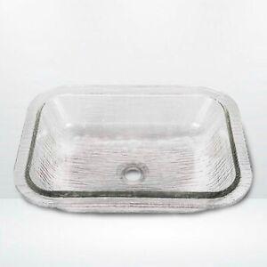 JSG Oceana Oasis 007-407-000 Glass Undermount or Drop-In Vessel Sink - Crystal
