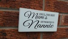 Mum Nannie Gift Shabby Vintage Chic Sign Plaque Birthday Christmas Mothers Day