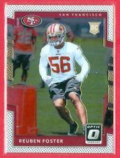 2017 PANINI OPTIC (FB) Reuben Foster CHROME ROOKIE/RC Card (#132) SF 49ers