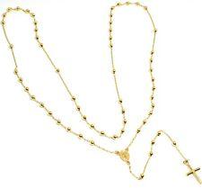 Halskette Rosenkranz, Lang 64 CM, Gelbgold 750 18K, Medaille Ideales, Überqueren