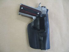 "Desert Eagle 1911 5"" IWB Leather In Waistband Concealed Carry Holster BLACK RH"