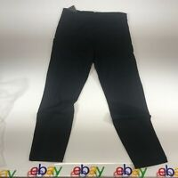 Somnium Womens Black Athletic Street Wear Leggings Capri Size Large NWT