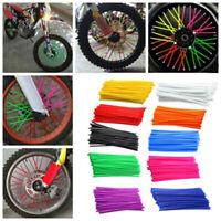36PCS Motorcycle Dirt Bike Spoke Skins Covers Wraps Wheel Rim Guard Protector