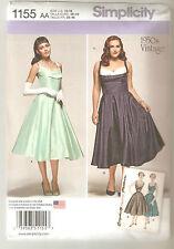 Simplicity Pattern 1155 / 0857 Miss Retro Style Rockabilly Flared Dress Sz 10-18