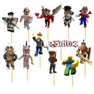 Set of 12 ROBLOX  Birthday Cup Cake Party Toppers / Decorations Birthday