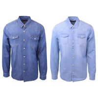 Scotch & Soda Men's AMS Blauw Classic Slim Fit Western L/S Shirt (Retail $115)